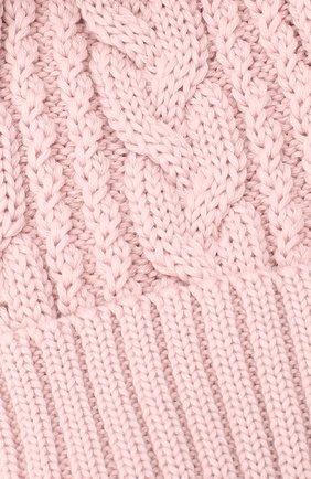 Детского шерстяная шапка с меховым помпоном CATYA розового цвета, арт. 24651 | Фото 3