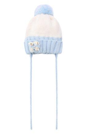 Детского шерстяная шапка CATYA голубого цвета, арт. 024600/AJ | Фото 1