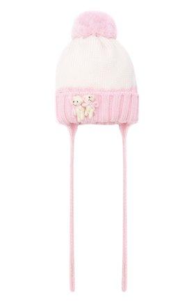 Детского шерстяная шапка CATYA розового цвета, арт. 024600/AJ | Фото 1