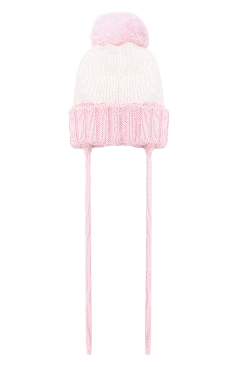 Детского шерстяная шапка CATYA розового цвета, арт. 024600/AJ | Фото 2