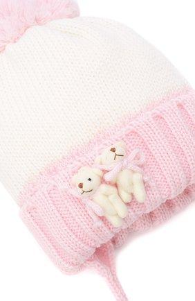 Детского шерстяная шапка CATYA розового цвета, арт. 024600/AJ | Фото 3