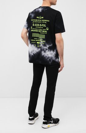Мужская хлопковая футболка DIESEL черного цвета, арт. A00281/0WAXP   Фото 2