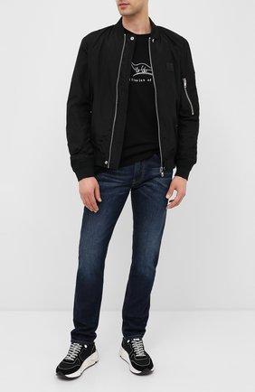 Мужская хлопковая футболка DIESEL черного цвета, арт. A00287/0PATI | Фото 2