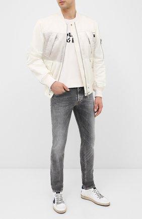 Мужская хлопковая футболка DIESEL белого цвета, арт. A00289/0PATI | Фото 2
