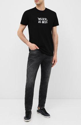 Мужская хлопковая футболка DIESEL черного цвета, арт. A00289/0PATI | Фото 2