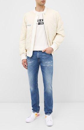 Мужские кожаные кеды pro leather gold standard CONVERSE белого цвета, арт. 167935 | Фото 2