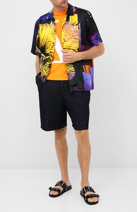 Мужские текстильные шлепанцы valentino garavani vltn VALENTINO черного цвета, арт. UY2S0D61/CWI   Фото 2