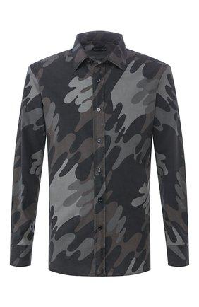 Мужская рубашка TOM FORD хаки цвета, арт. 7FT925/94VSEG | Фото 1