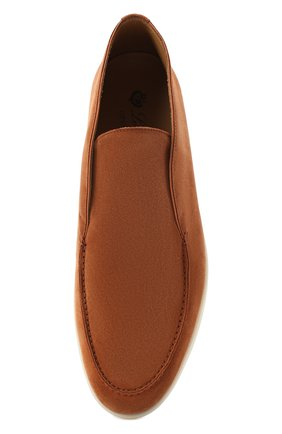 Мужские замшевые ботинки open walk LORO PIANA светло-коричневого цвета, арт. FAB4368   Фото 5