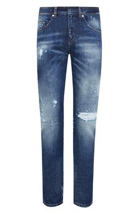 Мужские джинсы NEIL BARRETT синего цвета, арт. PBDE302/P809T | Фото 1