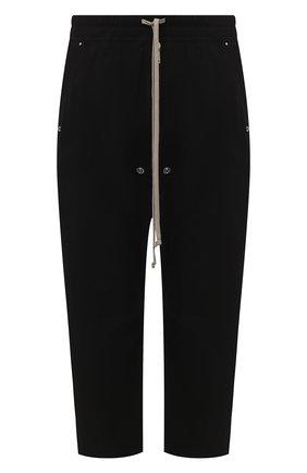 Мужской хлопковые брюки RICK OWENS черного цвета, арт. RU20F3363/TE | Фото 1