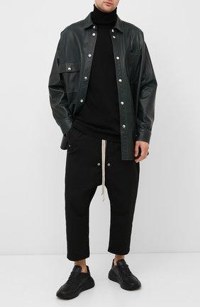 Мужской хлопковые брюки RICK OWENS черного цвета, арт. RU20F3363/TE | Фото 2