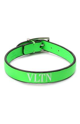 Мужской кожаный браслет valentino garavani VALENTINO зеленого цвета, арт. TY0J0M65/CFW | Фото 1