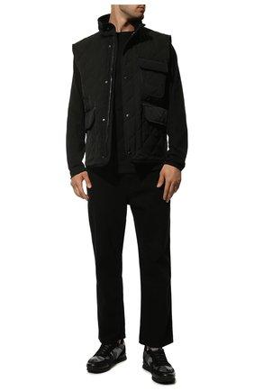 Мужские комбинированные кроссовки valentino garavani rockrunner VALENTINO черного цвета, арт. UY2S0723/QRK | Фото 2