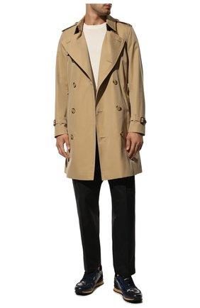 Мужские комбинированные кроссовки valentino garavani rockrunner VALENTINO темно-синего цвета, арт. UY2S0723/XVU | Фото 2