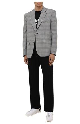 Мужские кожаные кеды backnet VALENTINO белого цвета, арт. UY2S0C04/DYH   Фото 2 (Материал внутренний: Натуральная кожа; Подошва: Плоская)