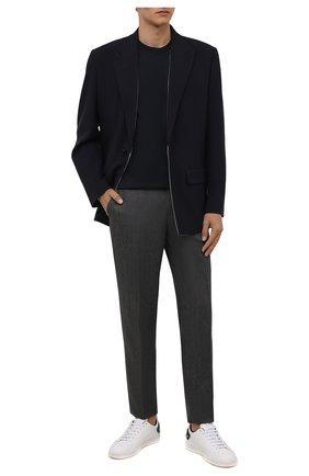 Мужские кожаные кеды backnet VALENTINO белого цвета, арт. UY2S0C04/DYH | Фото 2 (Материал внутренний: Натуральная кожа; Подошва: Плоская)