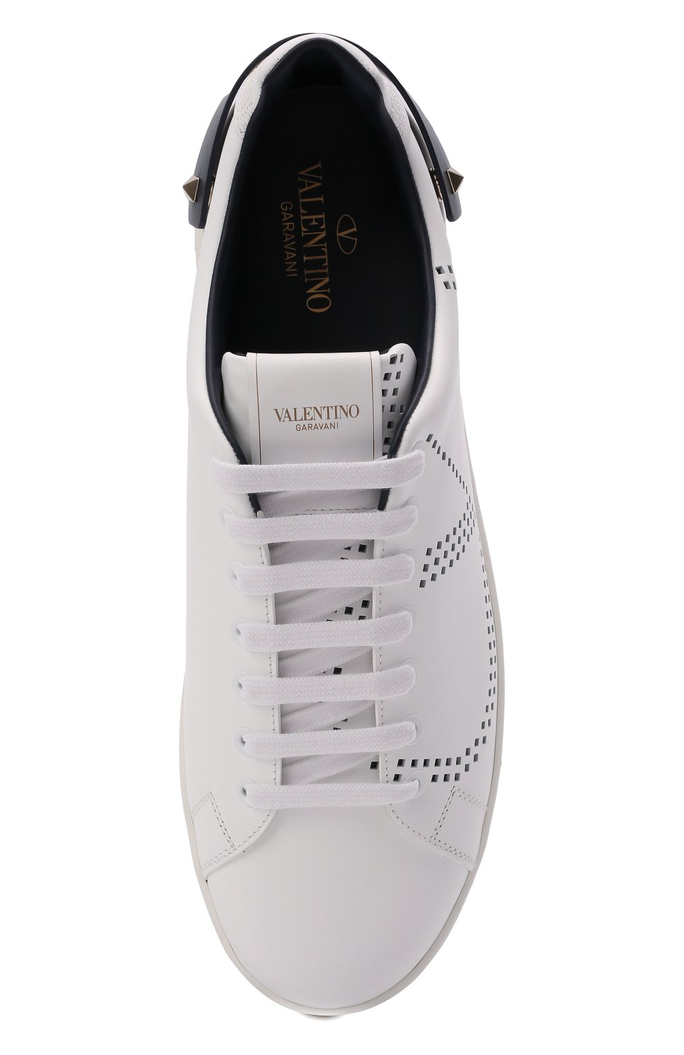Мужские кожаные кеды valentino garavani backnet VALENTINO белого цвета, арт. UY2S0C04/DYH   Фото 5