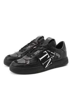 Мужские кожаные кеды vl7n VALENTINO черного цвета, арт. UY2S0C58/WRQ | Фото 1 (Подошва: Массивная; Материал внутренний: Натуральная кожа; Материал внешний: Текстиль)