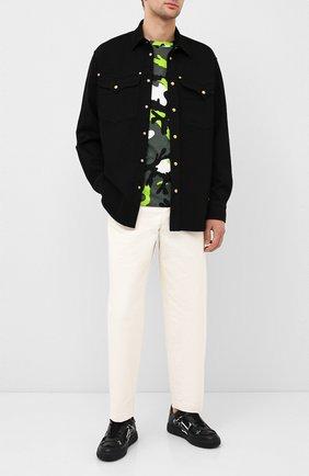 Мужские кожаные кеды vl7n VALENTINO черного цвета, арт. UY2S0C58/WRQ | Фото 2 (Подошва: Массивная; Материал внутренний: Натуральная кожа; Материал внешний: Текстиль)