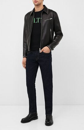 Мужские кожаные челси valentino garavani VALENTINO черного цвета, арт. UY2S0C84/KWS | Фото 2