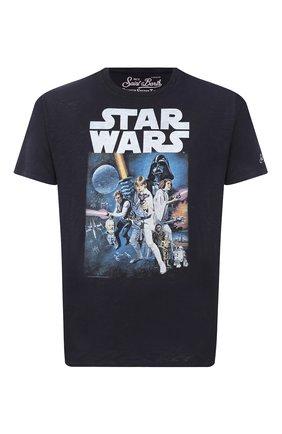 Мужская хлопковая футболка MC2 SAINT BARTH темно-синего цвета, арт. STBM SKYLAR/SKY0001 | Фото 1