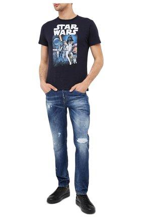 Мужская хлопковая футболка MC2 SAINT BARTH темно-синего цвета, арт. STBM SKYLAR/SKY0001 | Фото 2