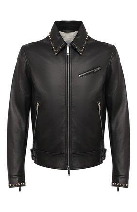 Мужская кожаная куртка VALENTINO черного цвета, арт. UV3NA02L2AD | Фото 1
