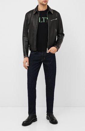 Мужская кожаная куртка VALENTINO черного цвета, арт. UV3NA02L2AD | Фото 2