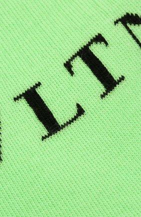 Мужские хлопковые носки VALENTINO зеленого цвета, арт. UV3KI00T6NG | Фото 2