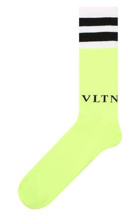 Мужские хлопковые носки VALENTINO желтого цвета, арт. UV3KI00T6NG | Фото 1