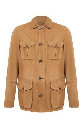 Мужская замшевая куртка ANDREA CAMPAGNA светло-коричневого цвета, арт. A9T940/5315 | Фото 1