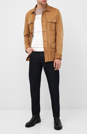 Мужская замшевая куртка ANDREA CAMPAGNA светло-коричневого цвета, арт. A9T940/5315 | Фото 2