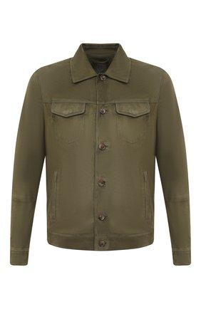 Мужская замшевая куртка ANDREA CAMPAGNA зеленого цвета, арт. A9T903/5319 | Фото 1