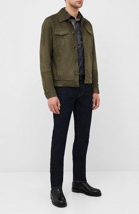 Мужская замшевая куртка ANDREA CAMPAGNA зеленого цвета, арт. A9T903/5319 | Фото 2