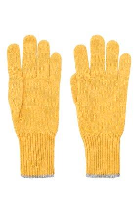 Мужские кашемировые перчатки BRUNELLO CUCINELLI желтого цвета, арт. M2293118 | Фото 2