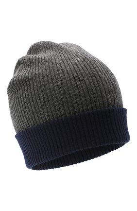 Мужская кашемировая шапка BRUNELLO CUCINELLI темно-серого цвета, арт. M2293600 | Фото 1