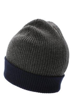 Мужская кашемировая шапка BRUNELLO CUCINELLI темно-серого цвета, арт. M2293600 | Фото 2