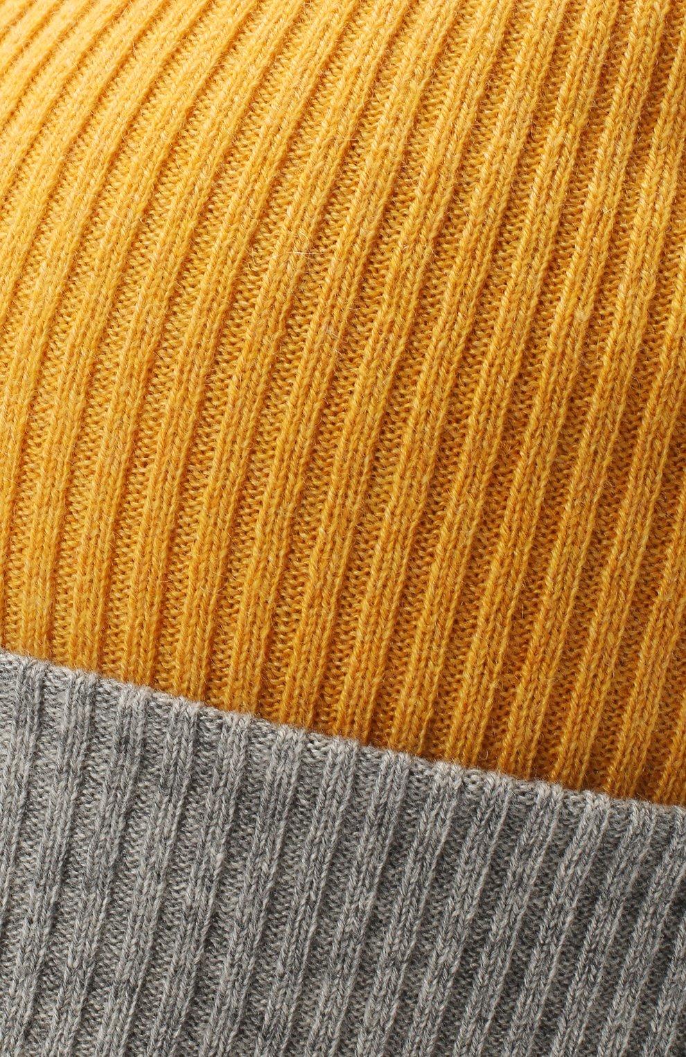 Мужская кашемировая шапка BRUNELLO CUCINELLI желтого цвета, арт. M2293600 | Фото 3