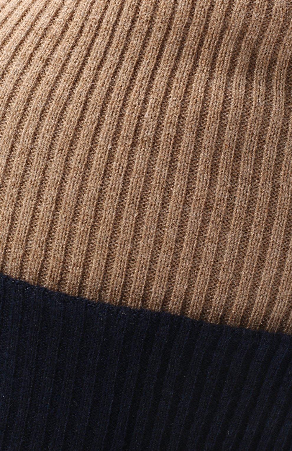 Мужская кашемировая шапка BRUNELLO CUCINELLI бежевого цвета, арт. M2293600 | Фото 3