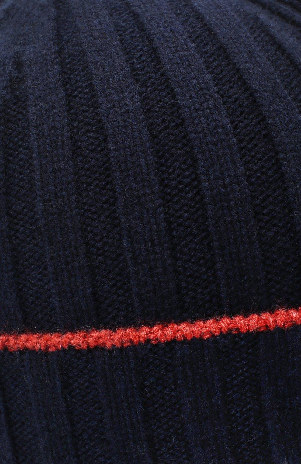 Мужская кашемировая шапка BRUNELLO CUCINELLI темно-синего цвета, арт. M2240900 | Фото 3
