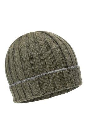 Мужская кашемировая шапка BRUNELLO CUCINELLI хаки цвета, арт. M2240900 | Фото 1