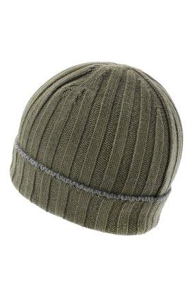 Мужская кашемировая шапка BRUNELLO CUCINELLI хаки цвета, арт. M2240900 | Фото 2