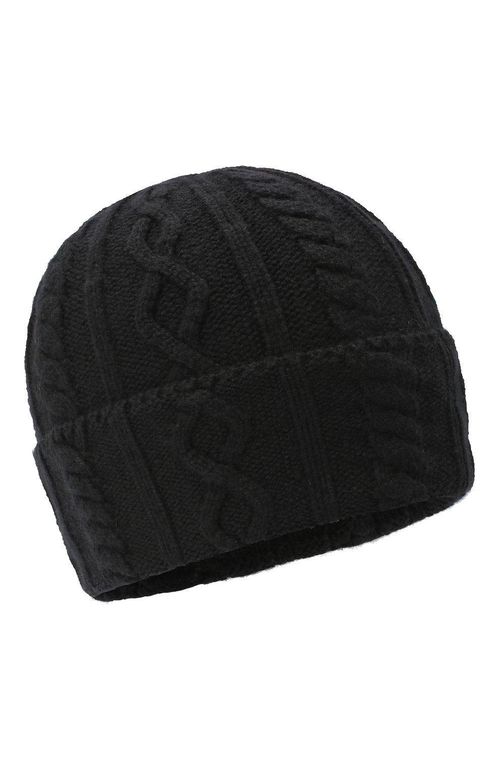 Мужская кашемировая шапка BRUNELLO CUCINELLI черного цвета, арт. M2294030 | Фото 1