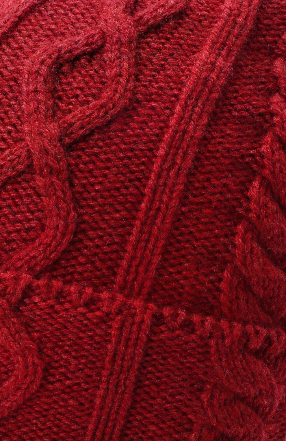 Мужская кашемировая шапка BRUNELLO CUCINELLI красного цвета, арт. M2294030 | Фото 3