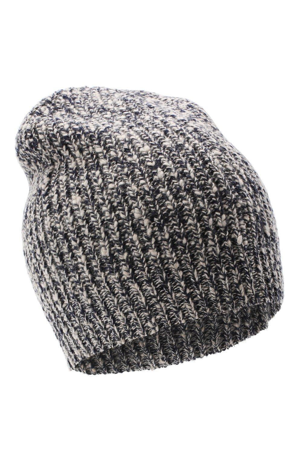 Мужская шапка из шерсти и кашемира BRUNELLO CUCINELLI темно-синего цвета, арт. M2657080 | Фото 1