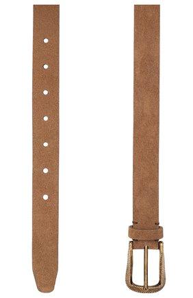 Мужской замшевый ремень BRUNELLO CUCINELLI светло-коричневого цвета, арт. MAUGP262 | Фото 2