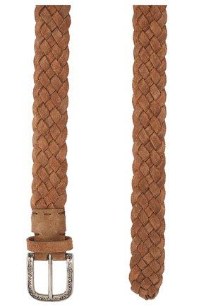 Мужской замшевый ремень BRUNELLO CUCINELLI светло-коричневого цвета, арт. MAUGT369 | Фото 2