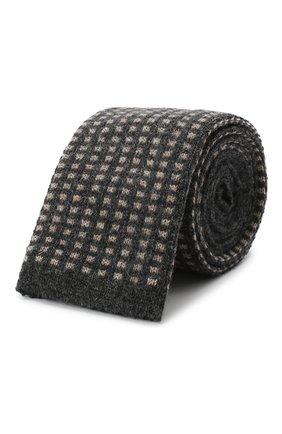 Мужской кашемировый галстук BRUNELLO CUCINELLI темно-серого цвета, арт. ML8920018 | Фото 1