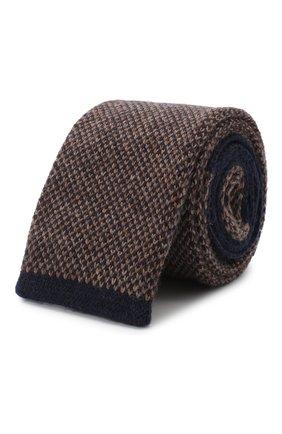 Мужской кашемировый галстук BRUNELLO CUCINELLI коричневого цвета, арт. ML8930018 | Фото 1